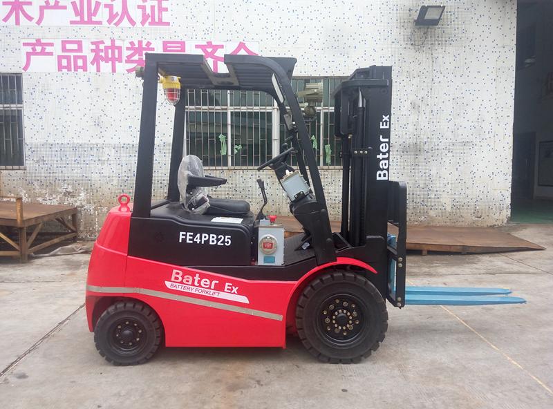 东莞某涂料厂--2.5吨防爆蓄电池叉车