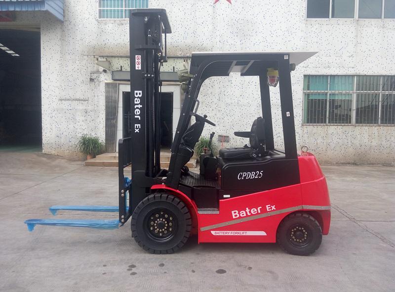 广东某涂料公司--2.5吨高门架防爆电动叉车