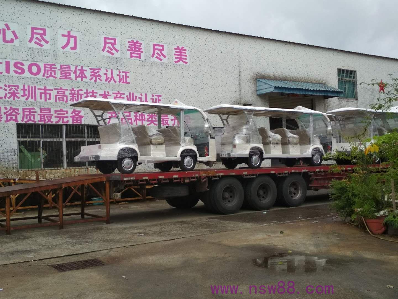 5台防爆蓄电池观光车出厂